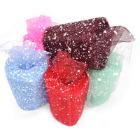 18 Colors 15CM 18M Snowflake Organza Tulle Roll Flower Wrapping For Valentine S Day Wedding Decoration