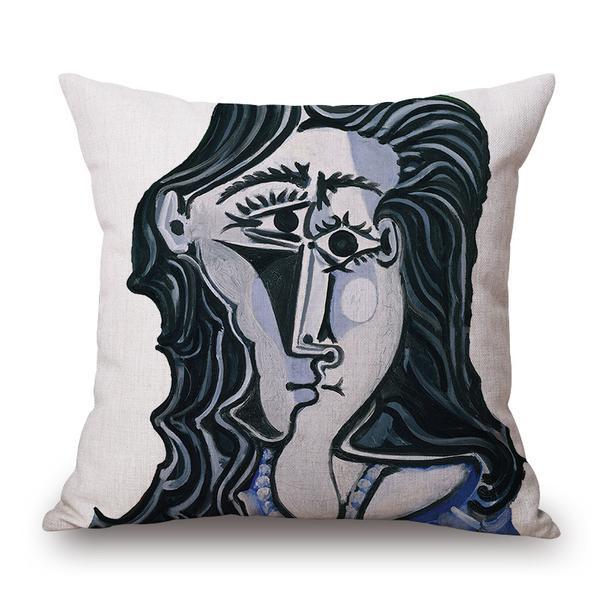 XYZLS Fashion European Classical Picasso Famous Paintings Cushion Decorative Throw Pillows 45X45CM for Home Sofa Car Seat