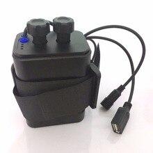 Водонепроницаемый пластиковый 6x18650 Чехол-держатель для аккумулятора DC/USB выход для велосипеда, велосипедный светильник, лампа и мобильный телефон