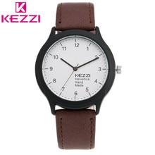 2016 Oficial de Autorizar KEZZI Marca Reloj de pulsera de Cuero de Moda Masculina Casual Hombres Deporte QuartzWatch Relogio masculino Hombres KZ53