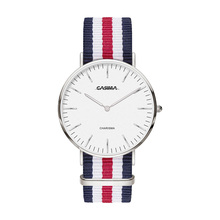 Brand Unisex Quartz Wristwatch Popular Elegant Simple Design Colorful Nylon Strap Watch Fashion Casual Style watch CASIMA 5134