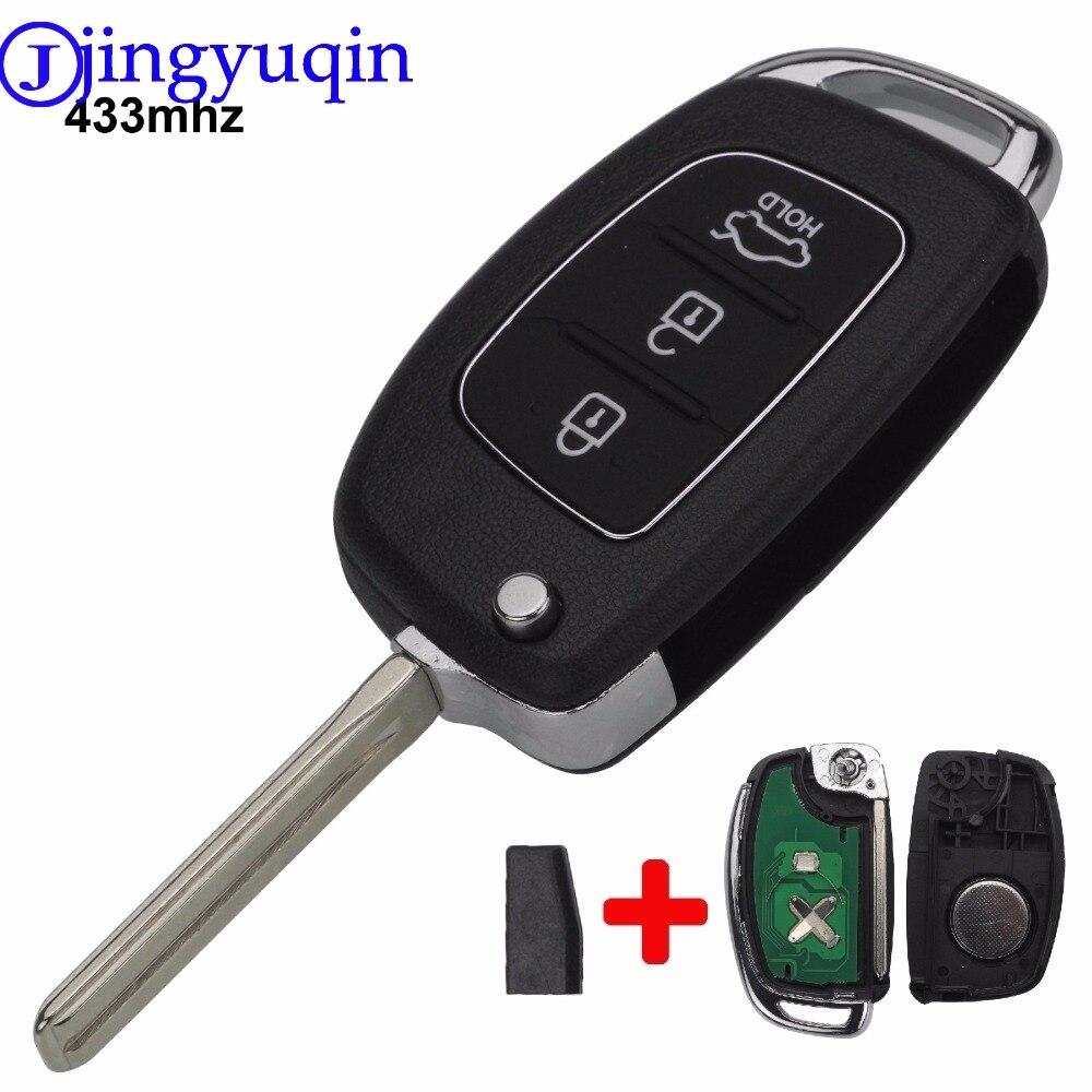 Jingyuqin Remote 3 Tasten FSK 433 mhz Mit ID46 Chip TOY40 Auto Key Fall Shell Für Hyundai Neue IX35 IX25 IX45 Elantra Santa Fe