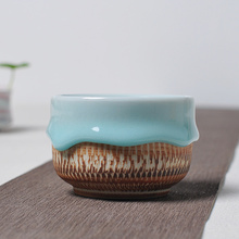 Longquan celadon Kung Fu Tea handmade knife cup large ceramic soup to swallow Pu'er tea tea cup of tea