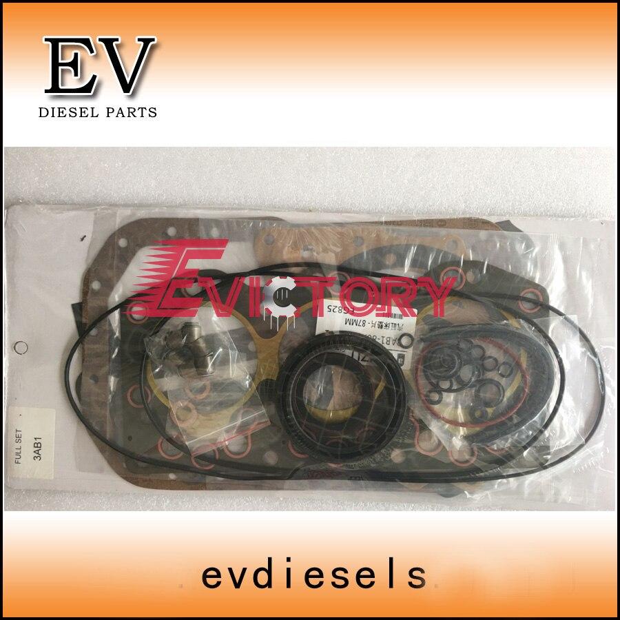 3AB1 kit de joint de culasse complet comprend 3AB1 joint d'huile de vilebrequin de gazketvalve de culasse