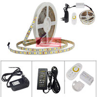 LED STRIP 5050 SET 2 IN 1 White+Warm white LED Strip Light 5050 CWW with 2.4G RF CCT Controller, 12V Power Supply EU/US Plug
