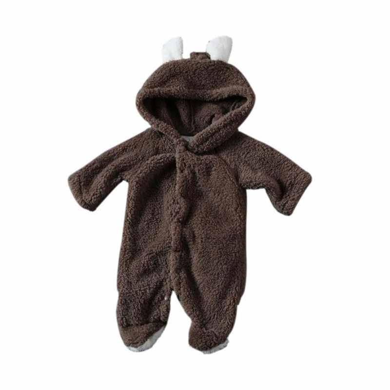 Детский комбинезон для новорожденных; зимний костюм; одежда для маленьких мальчиков и девочек; Флисовая теплая одежда для маленьких девочек; комбинезон с животными; Детский комбинезон; комбинезоны
