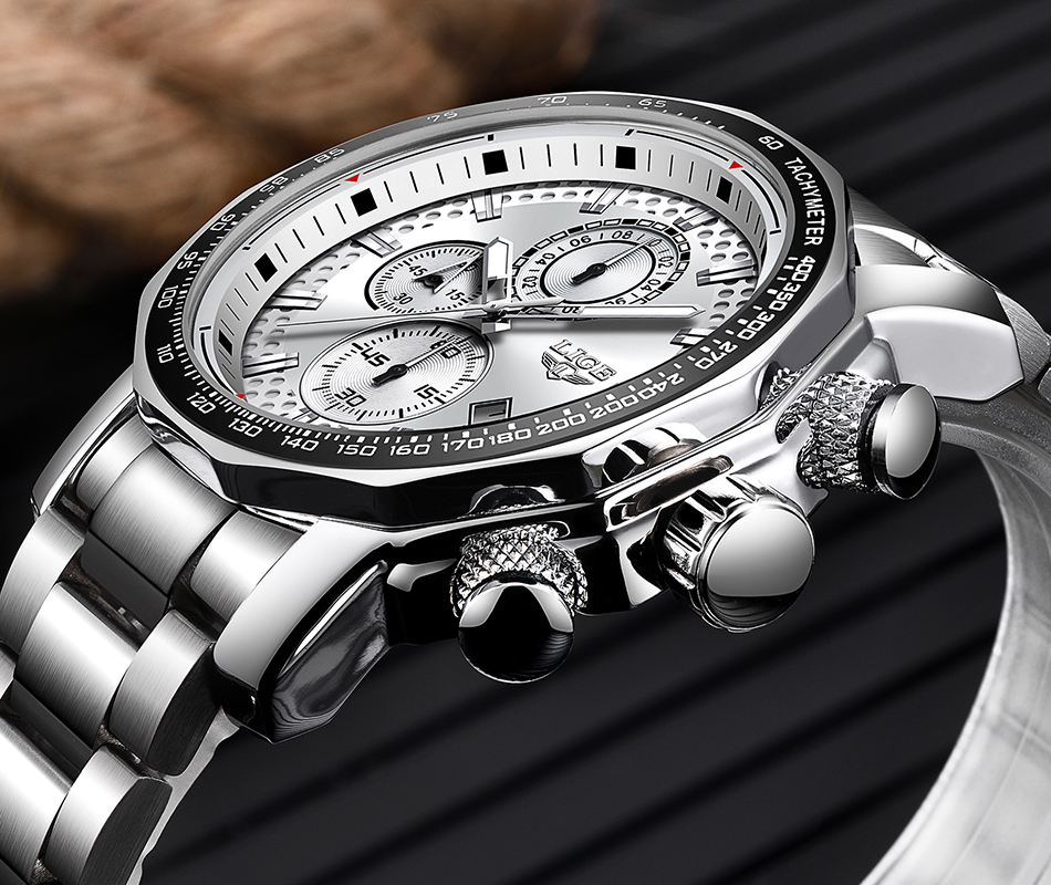 HTB1tPmNaZnrK1RjSspkq6yuvXXas Relogio Masculino LIGE New Sport Chronograph Mens Watches Top Brand Luxury Full Steel Quartz Clock Waterproof Big Dial Watch Men