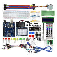 Starter Kit For Arduino Step Motor Servo 1602 LCD Breadboard Jumper Wire UNO R3 KIT Free