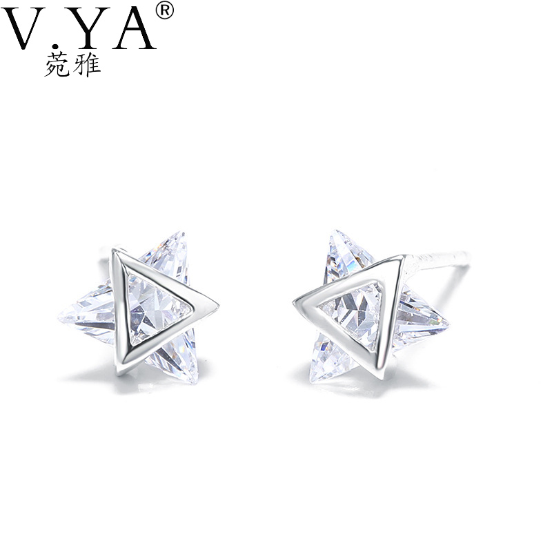 Jemmin Noble Symbol 925 Sterling Silver Meteor Star Shape Stud Earrings Essential Accessories For Ladies Vacation Popular Gift Jewelry & Accessories Earrings