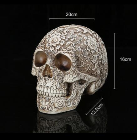 Resin steamed bread simulation skull model for Bar decoration, Halloween giftResin steamed bread simulation skull model for Bar decoration, Halloween gift