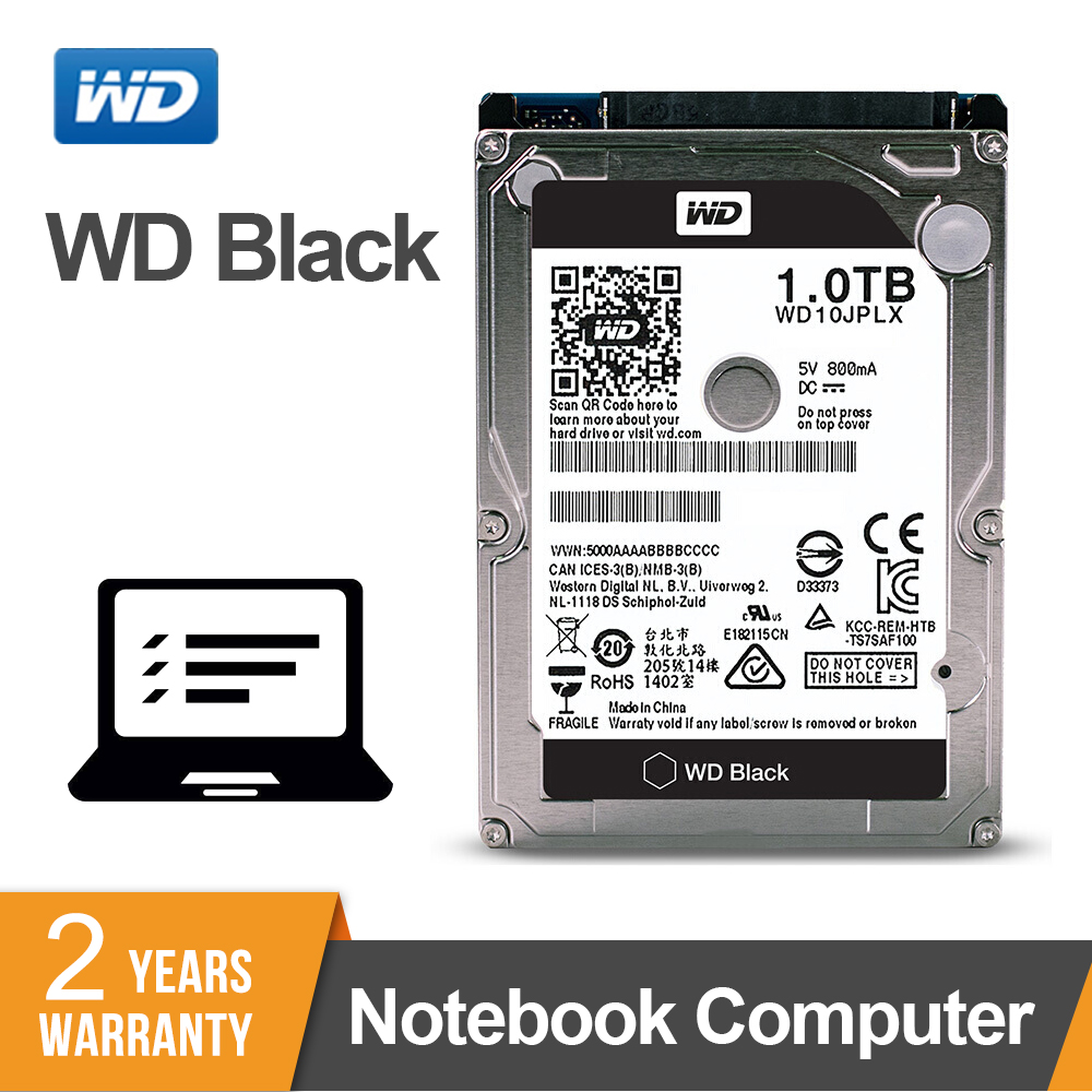 WD 1TB Black 2 5 HDD HD SATA III Internal Hard Disk Drive 1000Gb Harddisk for