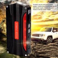 Çok Fonksiyonlu Araba Atlama Marş Taşınabilir 4 USB Araç Güç Kaynağı Şarj Edilebilir Güç Bankası Yüksek Güç Pil Aksesuar YENI