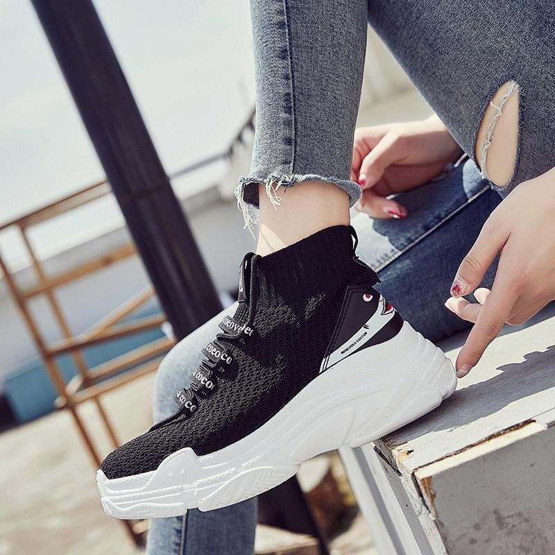 ADBOOV High Top Sneakers Homens Unisex Malha