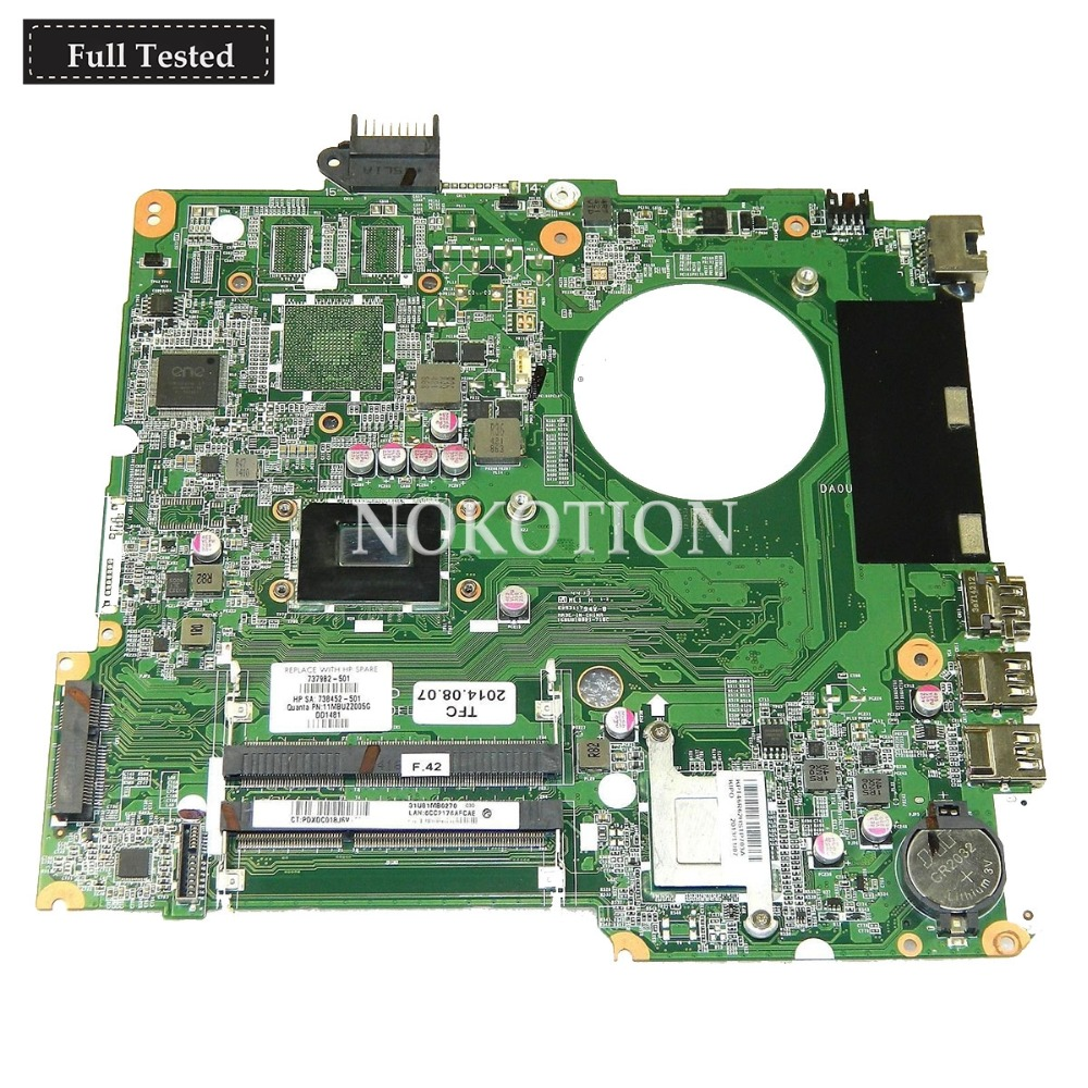 NOKOTION 737982 501 737982 001 DA0U81MB6C0 for HP Pavilion 15 15T 15 N 15T N Intel