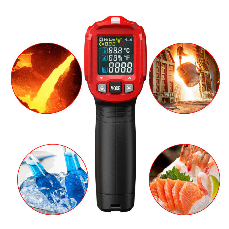 Digital Display Thermometer Humidity Meter Infrared Hygrometer Temperature Pyrometer CLH@8
