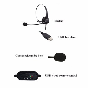 Image 4 - szKosTon High Quality USB Headset Noise Canceling Adjustable Operator Dedicated Headphones with Microphone for PC Laptop