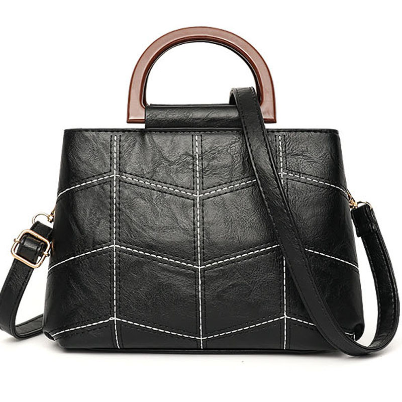 Fashion Women Handbags Leather Women Bag Lattice Shoulder bag High Quality Luxury Top-Handle Bags Casual Tote Bag for Women 2018