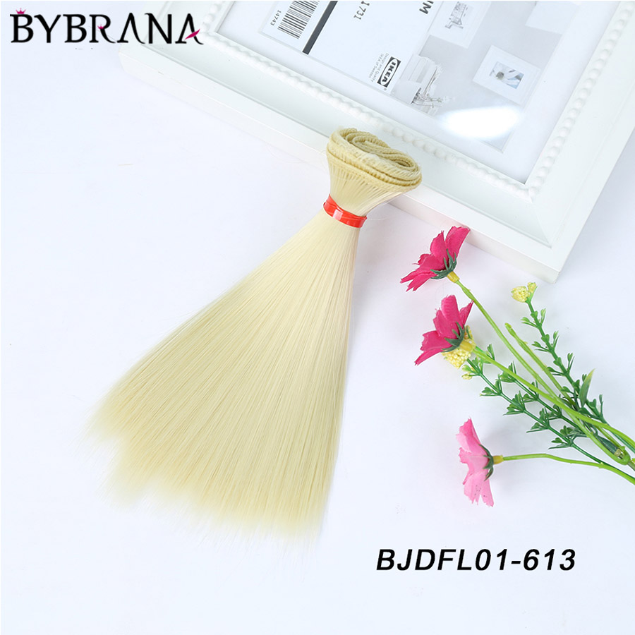 Bybrana DIY Hair High-temperature Wire short Straight BJD Wig for doll