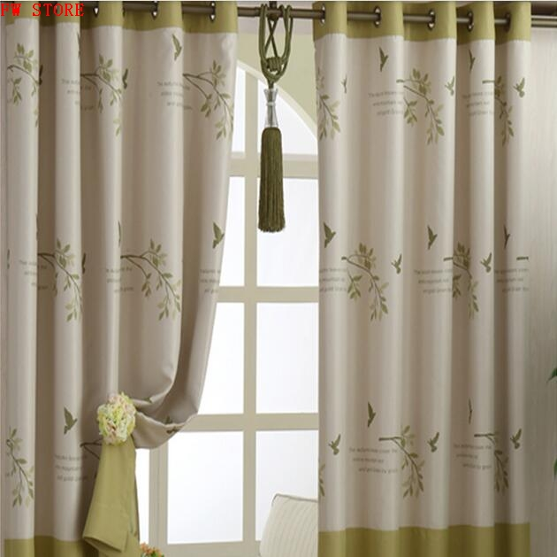 Blackout Curtains For Living Room/ Bedroom Bay Window 85% Printed Blackout  Curtain Short Style  Short Blackout Curtains