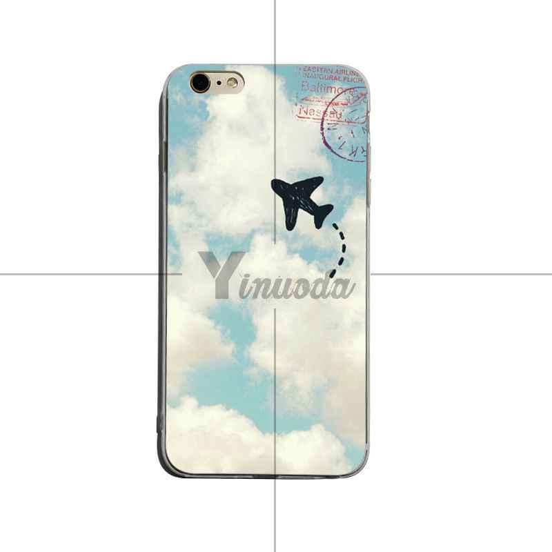 Yinuoda авиационный самолет Летающий путешествия облако самолет Прекрасный мягкий tpu телефон чехол для iPhone 6 плюс 6s 7 plus 8 plus X XS XR Coque Shell