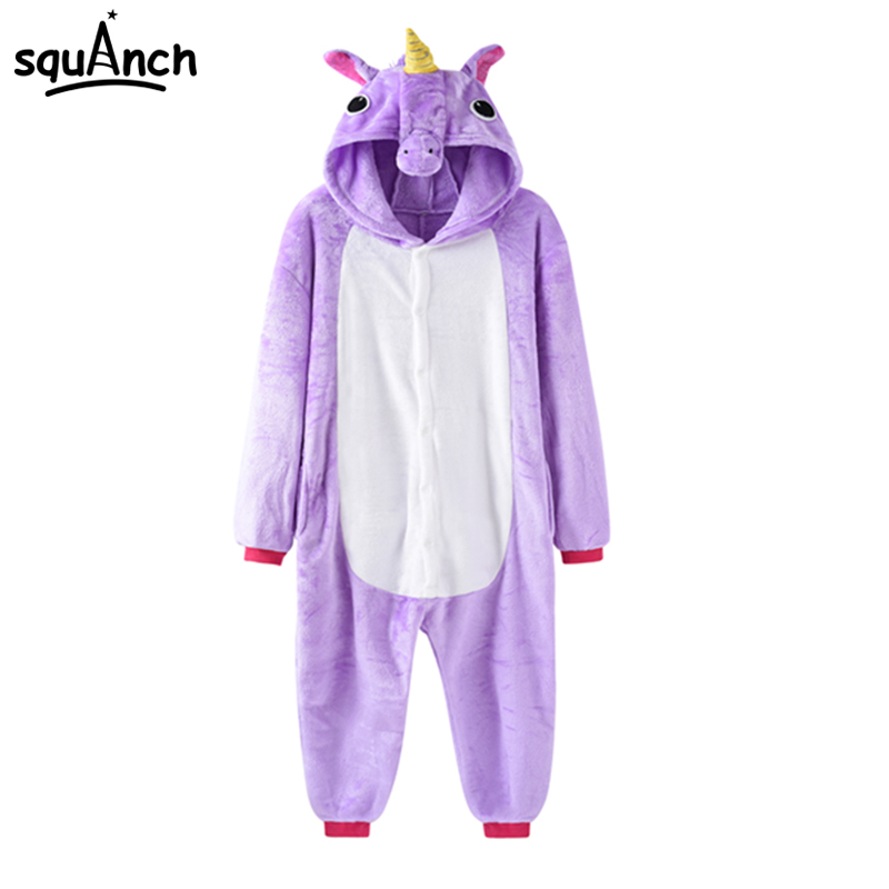 Unicorn Cosplay Costume Winter Thick Soft Pajama Women Men Couple Sleepwear Holiday Carnival Disguise Suit Cartoon Fancy Outfit