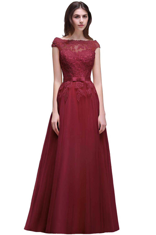 Us 5829 47 Offvestido Madrinha Elegant Burgundy Lace Bridesmaid Dresses Long Chiffon Wedding Party Dress Robe Demoiselle Dhonneur In Bridesmaid