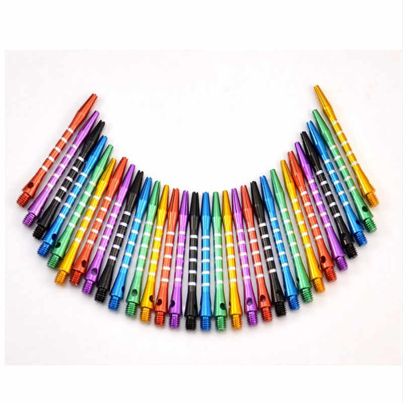 25pcs/lot Aluminum Medium Darts Shafts Harrows Dart Stems Throwing  High Quality Aluminum Darts Shafts 53mm Length Mixed Color