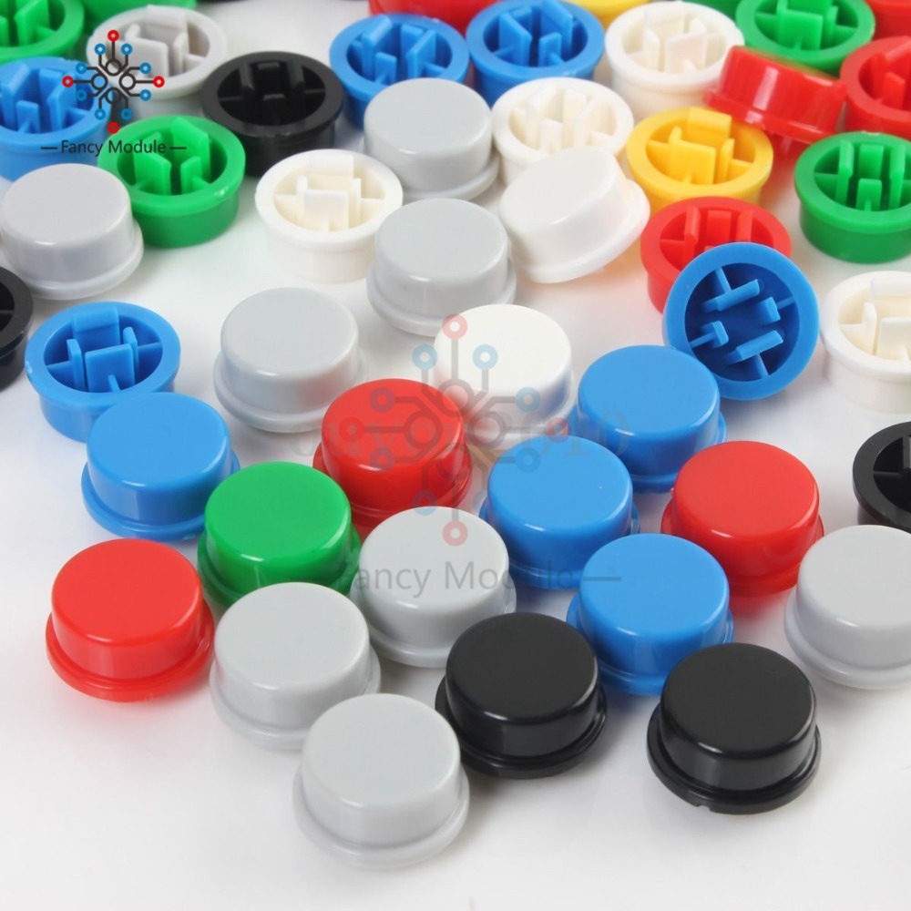 140pcs Round mixed color Tactile Button Caps For 6*6*7.3mm Tact Switches