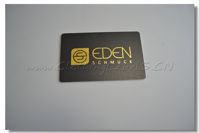 Busniess Card Black Pvc Card Plastic Business Card With Gold Color