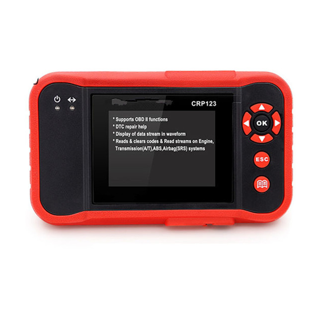 New Price OBDII Code Reader Scanner Test Engine/ABS/SRS/AT CRP123 Auto Diagnostic Tool