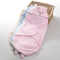Newborn Baby Blanket Swaddling Infant Baby Autumn Winter Polar Fleece Sleeping Bags Infant Baby Wrap Cute