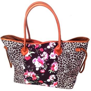 Wholesale Domil Endless Leopard/Floral Tote Bag Stripe/Aztec Handbag Stripe Large String Bag DOM1031167/1185 tote bag