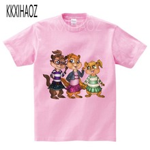 KKXIHAOZ 2019 Hot Sale ! New Alvin and the Chipmunks boys tops girls Costume kids costume Free Shipping  N