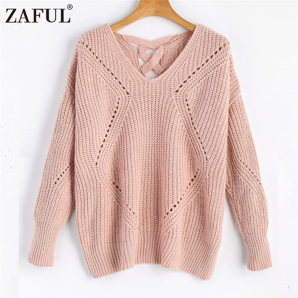 Aliexpress.com   Buy ZAFUL Autumn Winter Women Knitted Sweater . d6b10fe9a