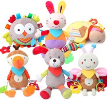Купить с кэшбэком Early Development Baby Toys 0-12 months Spiral Baby Toys For Newborns Car Seat Hanging Bebe Bell Rattle Toy For Christmas Gift