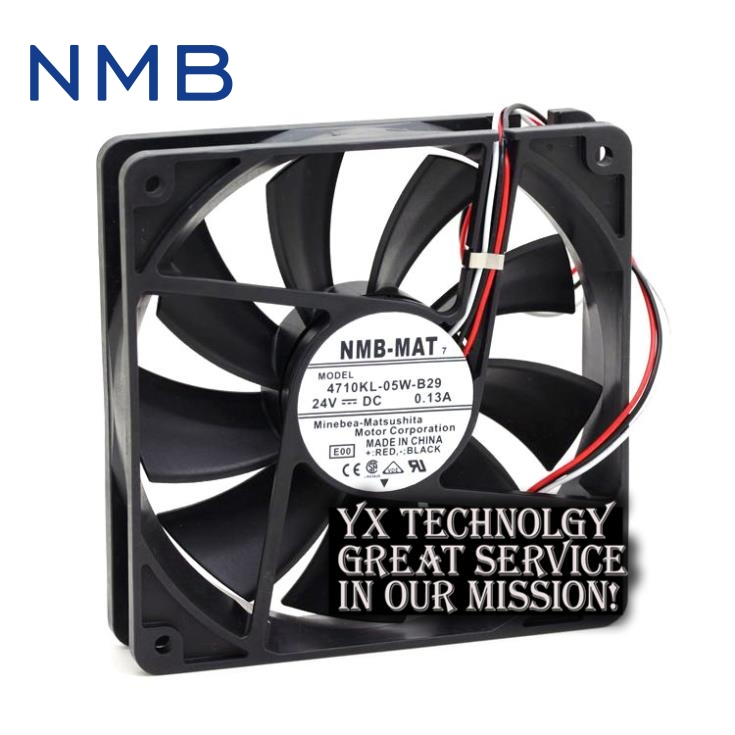 New 12025 4710KL-05W-B29 24V 0.13A 12CM alarm inverter fan for nmb new original for fanuc system fan a90l 0001 0551 a nmb 1608vl 05w b49 24v 0 07a 40 40 20mm 4cm