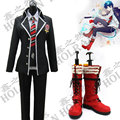 Hot Anime Ao no Exorcist Okumura Rin cosplay school uniform costume and shoes