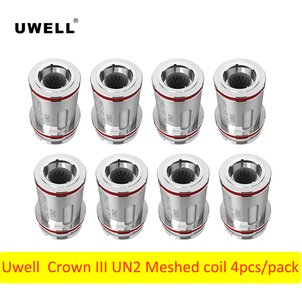 8 12pcs Original Uwell Crown III UN2 0.23ohm/ NUNCHAKU UN2 0.2ohm Mesh Coil E Cigarette Accessories For Uwell Tank Vape Tank