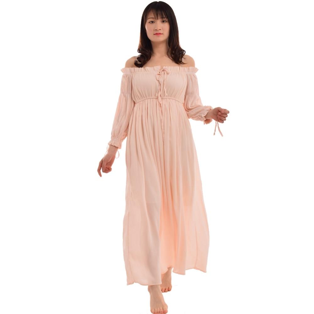 9f4169eca6c3c 1pc Retro Renaissance Peasant Dress Wench Pirate Gown Sexy Shoulder-off  Boho Beach Dress