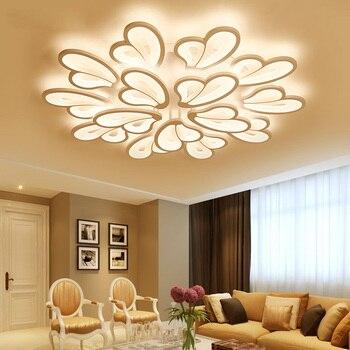 Hiện Đại Đèn Chùm ĐÈN LED Trắng Đèn Chùm Chiếu Sáng cho Phòng Khách Phòng Ngủ Phòng Ăn Bề Mặt Gắn kroonluchter