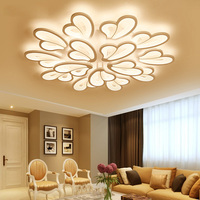 Moderna lámpara de araña LED blanca para sala de estar dormitorio comedor montaje en superficie kroonluchter