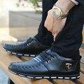 Zapatos 2017 Mocasines hombres zapatos casuales de primavera y otoño de los hombres planos de los hombres de moda de estilo popular ferrary pequeños solos zapatos de cuero