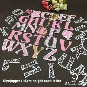 Image 5 - Металлическая высечка, алфавит 5 см, английская надпись, скрапбук, бумага ручной работы, карта happy mail, художественный резак alinacraft