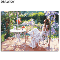 Anstract Frameless Picture Painting By Numbers Beauty Lady DIY Canvas Oil Painting Home Decor For Living