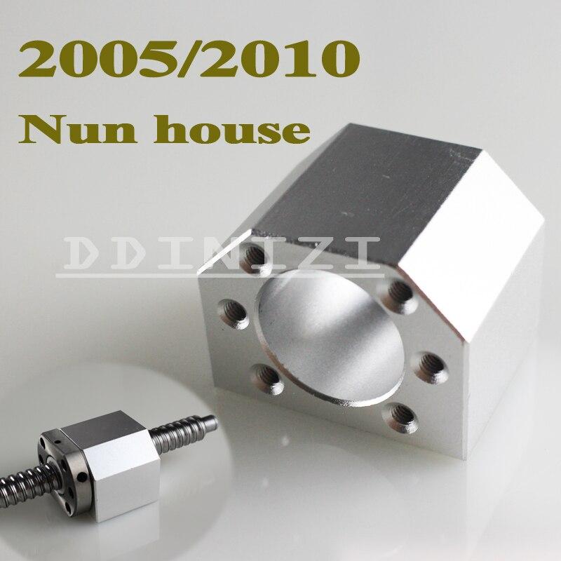 3 قطعة/الوحدة 2005 الكرة الجوز الإسكان قوس حامل الألومنيوم ل 20 مللي متر الكرة المسمار SFU2005 SFU2010 أجزاء التصنيع باستخدام الحاسب الآلي شحن مجاني