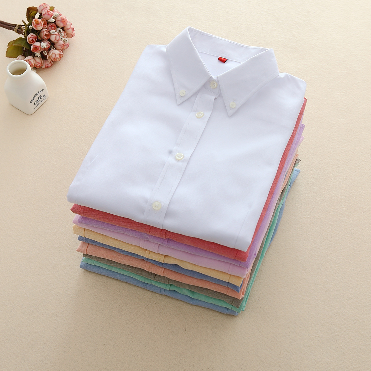 FEKEHA Frauen Blusen 2018 Langarm Oxford Damen Tops Büro Langarm Shirts Frauen Student Blusas Camisas Mujer