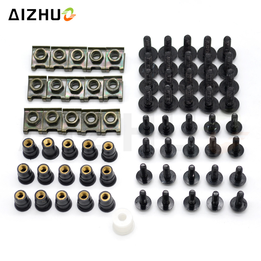 Motorcycle Aluminum Bolts Windscreen Fairing Bolts Nut Screws Washer for ducati 400 620 695 696 796 MONSTER HYPERMOTARD 796 in Covers Ornamental Mouldings from Automobiles Motorcycles