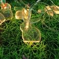 Кролик освещения теплый белый свет строка Животных партия свадебные украшения Пасхи декоративный свет сад детские главная зарядное