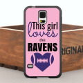 This Girl Loves the Ravens Case for iPhone 5 5S 6/6s/7 Plus and Case for Samsung Galaxy Note2 3 4 5 7 S4 S5 S6 Edge Plus S7 Edge