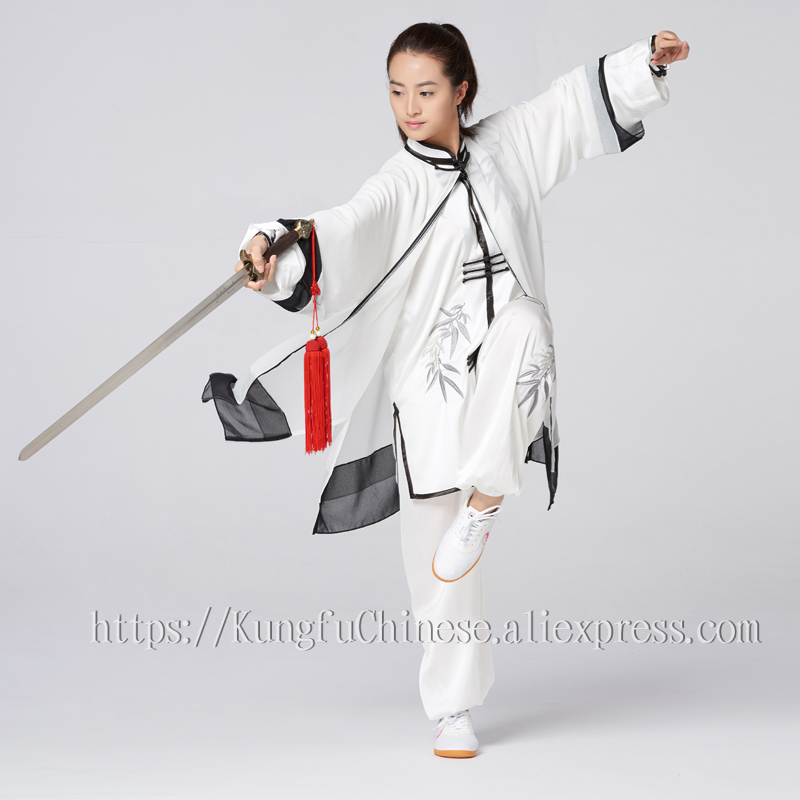 Chinese Tai chi clothing taiji clothes performance suit wushu garment kungfu uniform for men women children